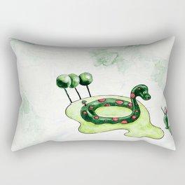The Lake Monster Rectangular Pillow