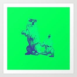 Ours Republique green Art Print