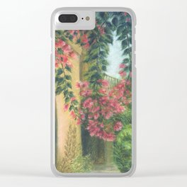 Picturesque patio_Pastel painting Clear iPhone Case
