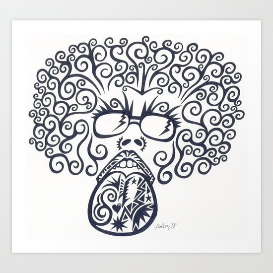 Bob Ross Lives Art Print