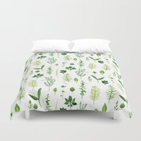 leaves Duvet Covers featuring Leaves by Vicky Webb