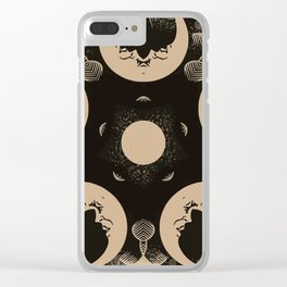 Ouija Wheel of the Moon - Beyond the Veil Clear iPhone Case