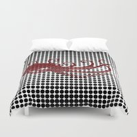 camouflage Duvet Covers featuring Camouflage by cepheart