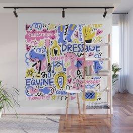 Equestrian Illustration Wall Mural