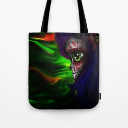 Mizz Skully in color  Tote Bag