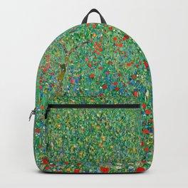 Poppy Field Gustav Klimt Backpack
