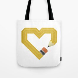 I Love Drawing Tote Bag