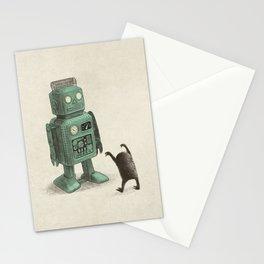 Robot Vs Alien Stationery Cards