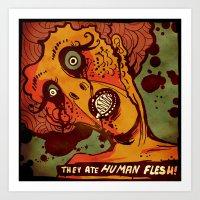 Zombie Horde Art Print