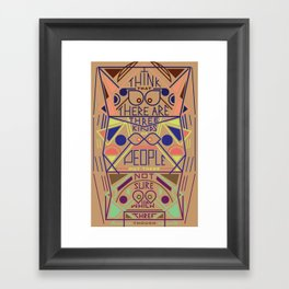 Haikuglyphics - Thoughts on Humanity Framed Art Print