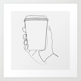 """"""" Kitchen Collection """" - Hand Offering Coffee Art Print"""