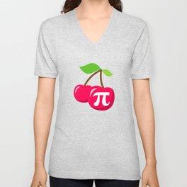 Cherry Pi - Pi Day Math Geek Nerd design Unisex V-Neck