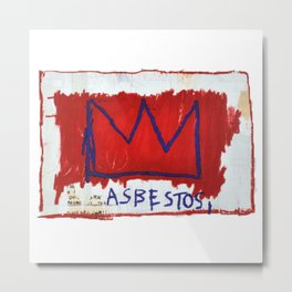 Asbestos Basquiat Metal Print