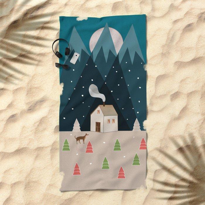 Winterworm Beach Towel