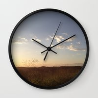 hiking Wall Clocks featuring Hiking Whittier by Uptilted Sparrow Photography