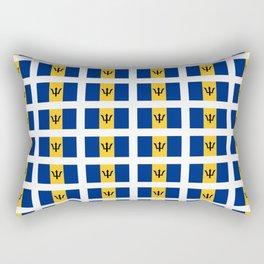 flag of Barbade-barbade,bajan,Barbadian,Bridgetown,barbados. Rectangular Pillow