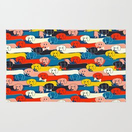 COLORED DOGS PATTERN 2 Rug