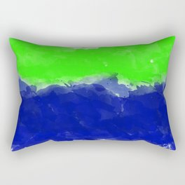Watercolor Harmony - Green Blue Rectangular Pillow