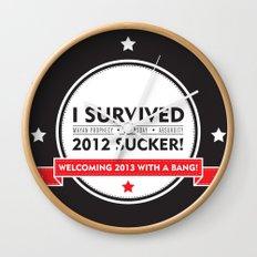 I SURVIVED 2012 SUCKER 2 Wall Clock