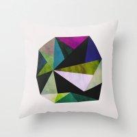 emerald Throw Pillows featuring Emerald by Georgiana Paraschiv