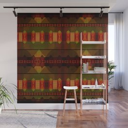 """Full Colors Tribal Pattern"" Wall Mural"
