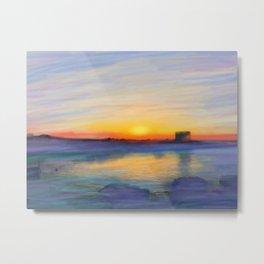 Sunset at San Vito Metal Print