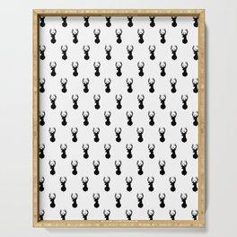 Deer, Minimal, Scandinavian, Abstract, Pattern, Modern art Serving Tray