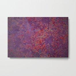 Red Moss Metal Print