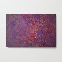 Red Moss Metal Print
