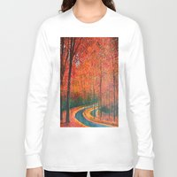 eugenia loli Long Sleeve T-shirts featuring Beautiful colors of Autumn by maggs326