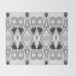 "Art Deco. ""Black and light gray"" 28 . Throw Blanket"