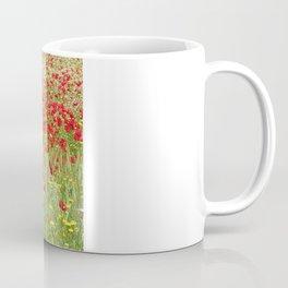 Meadow With Beautiful Bright Red Poppy Flowers  Coffee Mug