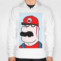 super mario Hoodies featuring Super Mario by Di Leo Comics