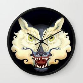 Wolf Lamb Wall Clock
