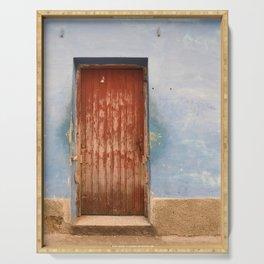 Havana Cuba Island Tropical Caribbean Latin Old Wooden Door Doorway Stucco Art Print Serving Tray