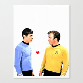 Kirk and Spock Space Husbands Print Canvas Print