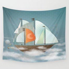 Sailing on clouds Wall Tapestry