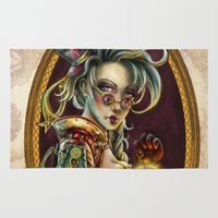 steampunk Area & Throw Rugs featuring Steampunk by Mili Koey
