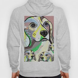 Beagle and Babies Soft Color Palette Hoody