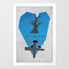 Heart Shaped Box Art Print