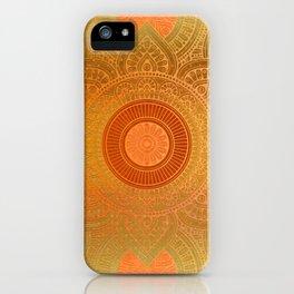 """Savanna Orange-Gold Mandala"" iPhone Case"