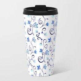 Deflt Blue Ditzy Floral Travel Mug
