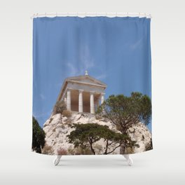 Roman Temple Near Marseille Shower Curtain