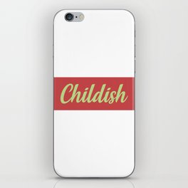 TGFBro Childish iPhone Skin