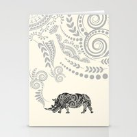 rhino Stationery Cards featuring Rhino by famenxt