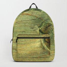 Rustic Natural Wood Backpack