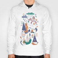 camp Hoodies featuring Bear camp by Demi Goutte