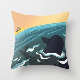 Evil Dolphin Throw Pillow