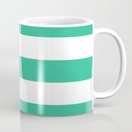 Mountain Meadow - solid color - white stripes pattern Coffee Mug
