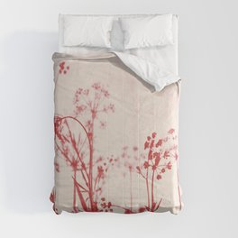 Elegant Coral Pink Botanical Floral Abstract. Comforters